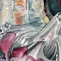 Orchid In A Vinegar Bottle by Karen Boudreaux