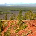 Oregon Landscape - View From Lava Butte by Carol Groenen