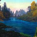 Oregon Santiam Landscape by Michael Orwick