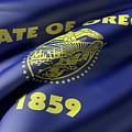 Oregon State Flag by Enrique Ramos Lopez