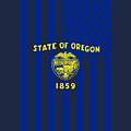 Oregon State Flag Graphic Usa Styling by Garaga Designs