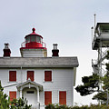Oregon's Seacoast Lighthouses - Yaquina Bay Lighthouse - Old And New by Christine Till