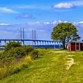 Oresund Bridge With Cabanas by Roberta Bragan