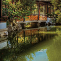 Orient - Bridge - The Chinese Garden by Mike Savad