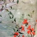 Oriental Orange Flowers by Ralph Herrington Farabee