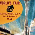 Original 1962 Seattle Worlds Fair Promotion by Daniel Hagerman