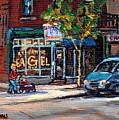 Original Art For Sale Montreal Petits Formats A Vendre Boulangerie St.viateur Bagel Paintings  by Carole Spandau