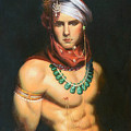 Original Classic Oil Painting Man Body Art-male Nude -068 by Hongtao     Huang