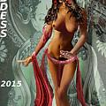 Original Female Nude Jean Goddess As Tara Dancing Poster by G Linsenmayer