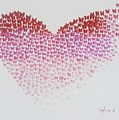 Original Oil Painting Heart, Painting Butterflies, Valentines Day Art, Wall Art Love by Elena Ganeva