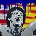 Original Painting Rocky Balboa by Stephanie Robayo