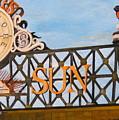 Orioles Scoreboard At Sunset by John Schuller
