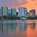 Orlando Cityscape Sunset by Adam Jewell