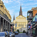Orleans Street And St Louis Cathedral by Bill Cannon