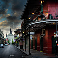 Orleans Street To St Louis Cathedral by Greg Mimbs
