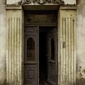 Ornamented Gate In Dark Brown Color by Jaroslaw Blaminsky