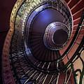 Ornamented Metal Spiral Staircase by Jaroslaw Blaminsky
