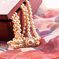Ornate Box Carved And Pearl Necklace Detail by Daniel Ghioldi