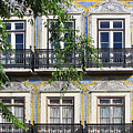 Ornate Building Facade In Lisbon Portugal by Carla Parris