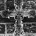 Ornate Cross 3 Bw by Angelina Vick