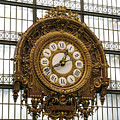 Ornate Orsay Clock by Ann Horn