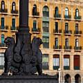 Ornate Street Lamp In Bilbao by James Brunker