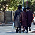 Orthodox Jews In Jerusalem by Susan Heller