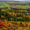 Ottawa River Valley In Fall At Tawadina Lookout At End Of Blanch by Reimar Gaertner
