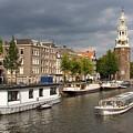 Oudeschans And Montelbaanstoren. Amsterdam. Netheralnds. Europe by Bernard Jaubert