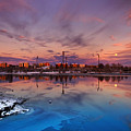 Oulu Moonrise Panorama by Sandra Rugina