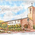 Our Lady Of Assumption Catholic Church, Claremont, California by Carlos G Groppa