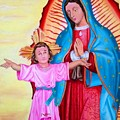 Our Lady Of Guadalupe And Child by Jorge Diez