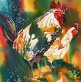 Our Neighbors Roosters by Tara Moorman