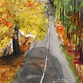 Our Road With Yellow Maple by John Williams