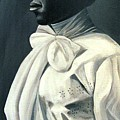 Out Of The Box Woman In Large White Bow  by Joyce Owens