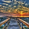 Walkway To The Sea Tybee Island Georgia Sunrise Seascape Art by Reid Callaway