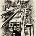 Outbound Train by Bill Cannon