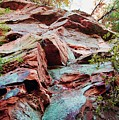 Outcrop At Wildcat Den by Jame Hayes