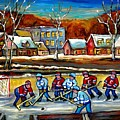 Outdoor Hockey Rink by Carole Spandau