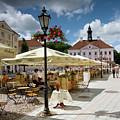 Outdoors Restaurant In Tartu Town Hall Square by Aivar Mikko