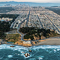 Outer Richmond San Francisco Aerial by David Oppenheimer