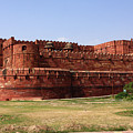 Outer Walls Of The Red Fort, Agra, India by Aidan Moran