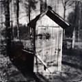 Outhouse Black And White Wetplate by Matthias Hauser