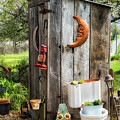 Outhouse In The Garden by Priscilla Burgers