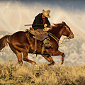 Outlaw Kelly Western Art By Kaylyn Franks by Kaylyn Franks