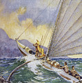 Outrigger At Sea by Hawaiian Legacy Archive - Printscapes