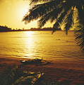 Outrigger At Sunset by Dana Edmunds - Printscapes