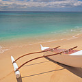 Outrigger On Beach by Dana Edmunds - Printscapes