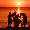 Outrigger Sunset Silhouet by Vince Cavataio - Printscapes