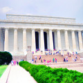 Outside The Lincoln Memorial by Bill Cannon